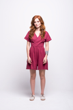 sofia jumpsuit burgundy short cotton sustainable