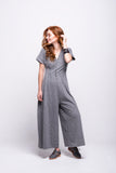 sofia jumpsuit grey long cotton sustainable side
