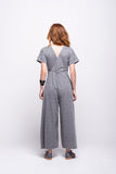 sofia jumpsuit grey long cotton sustainable back