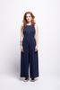 valentina jumpsuit navy blue cotton sustainable organic