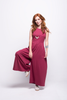 valentina jumpsuit burgundy cotton sustainable organic side