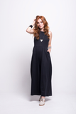 valentina jumpsuit black cotton sustainable organic