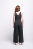 valentina jumpsuit green olive cotton sustainable organic back