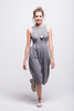 valentina jumpsuit grey cotton sustainable organic midi