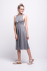 valentina jumpsuit grey cotton sustainable organic midi front