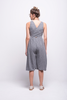 valentina jumpsuit grey cotton sustainable organic midi back