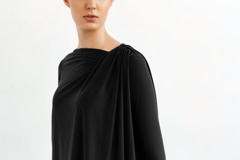 black long sleeve shirt envido basic sustainable detail