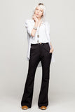 black pants long flare envido sustainable cotton linen