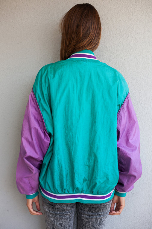 Lilac & Green Windbreaker Jacket