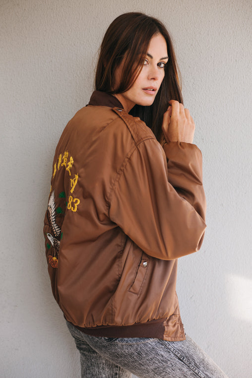Sukajan Korea Brown Jacket