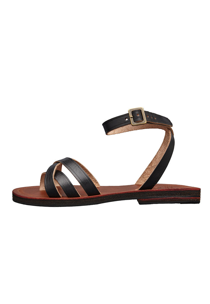 sol sandals caboclo black leather sustainable side