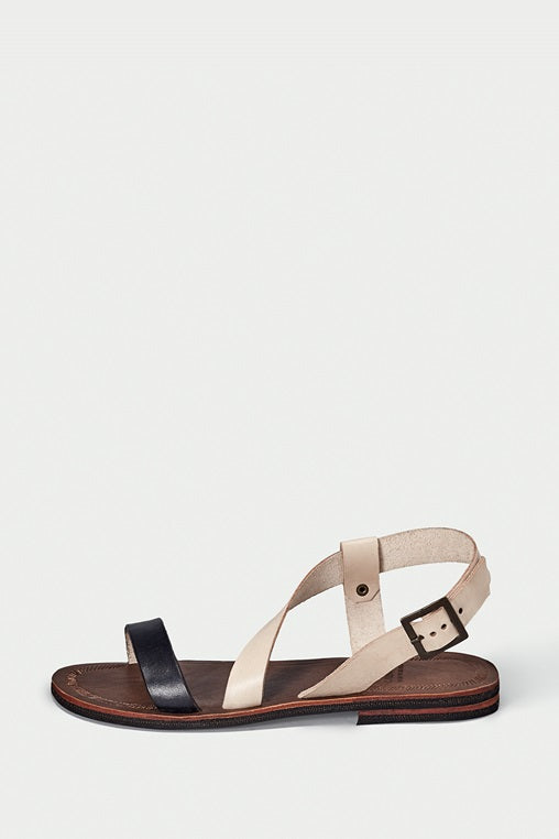 shoe 37 caboclo black and brown leather sandals sustainable side