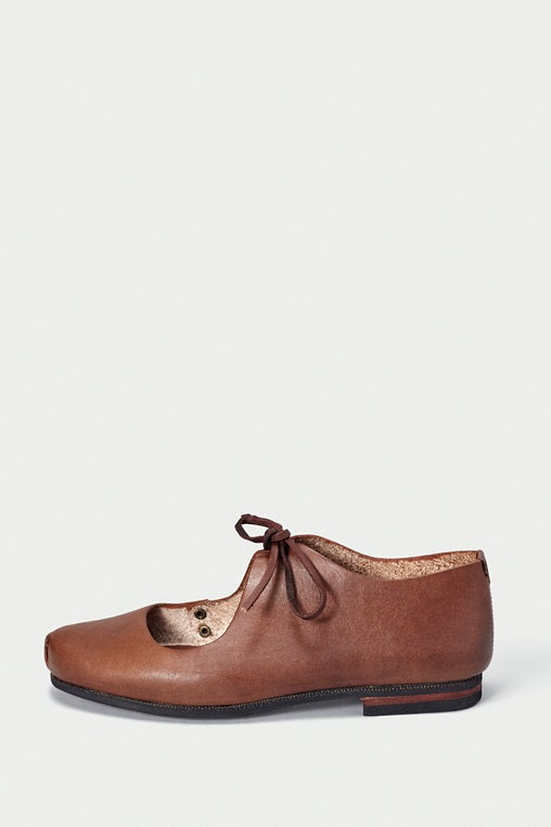 bailarina flats fauna caboclo leather sustainable brown side