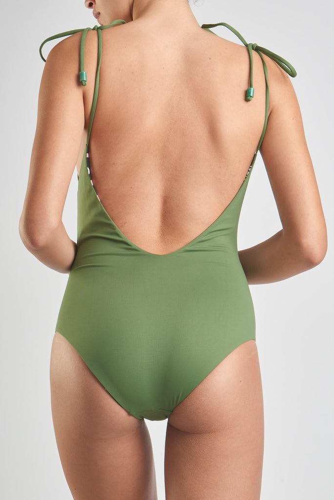 Leblon Bathing Suit Mate (Reversible Jongo Mate Green)