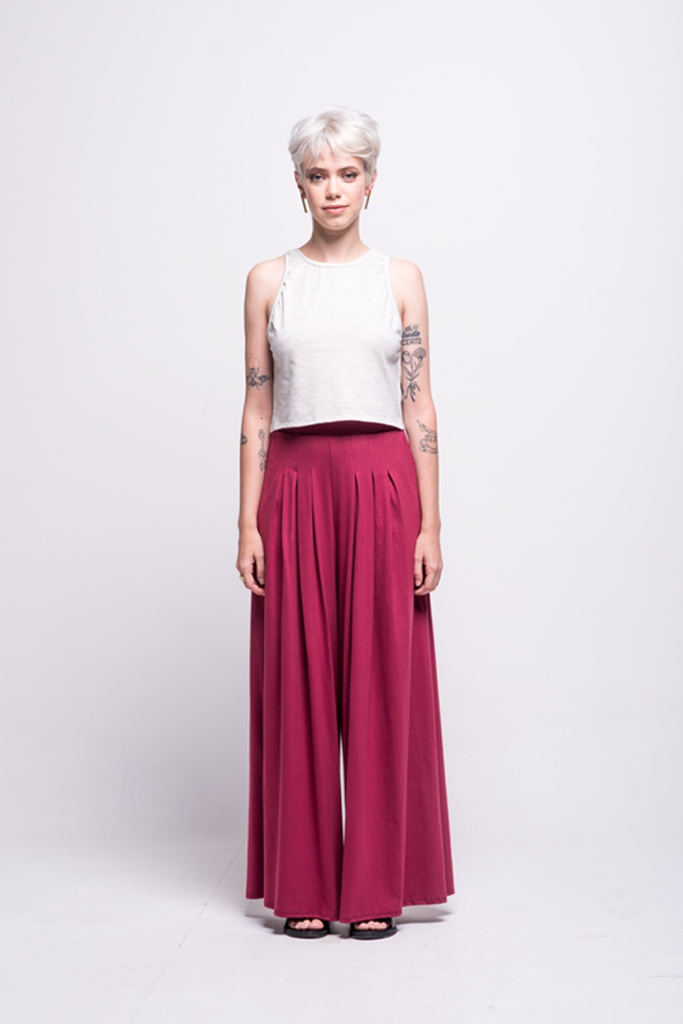 lois long pants burgundy ada sustainable organic cotton