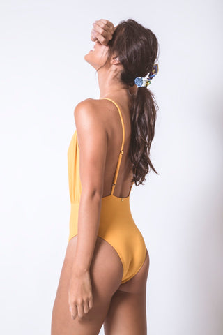 Ocher V Bathing Suit