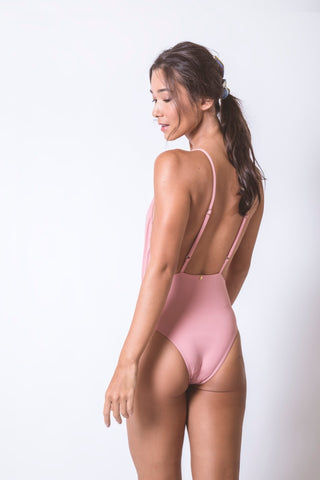 Light Pink V Bathing Suit