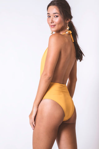 Ocher Bathing Suit (2 in 1)