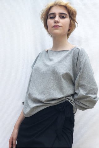 Grey Recycled Blouse
