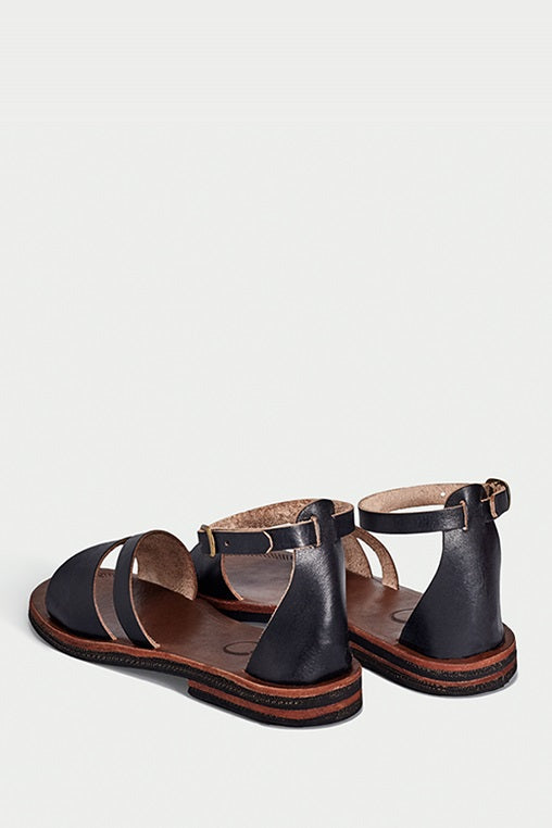búzios black sandals caboclo leather back