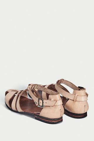 natural caranguejeira sandals caboclo leather back