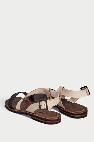 shoe 37 caboclo black and brown leather sandals sustainable back
