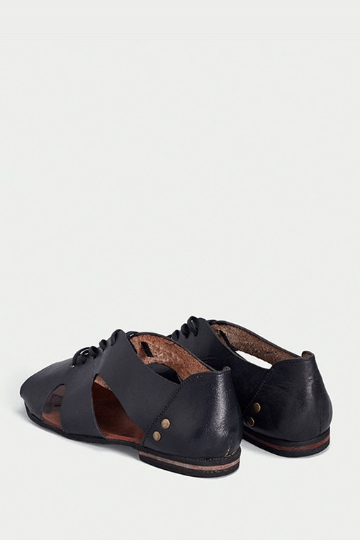 flash sandals black caboclo leather sustainable back