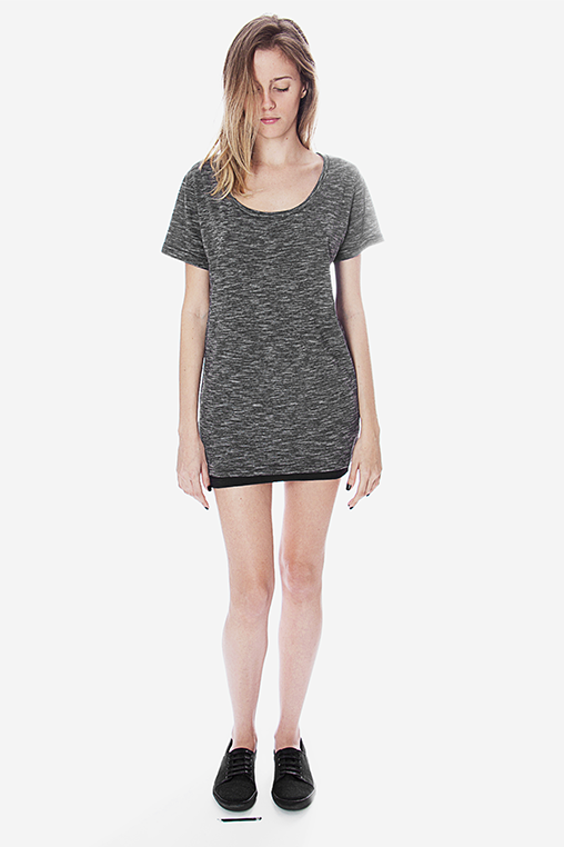 t shirt cycle grey movin cotton recycled sustainable women
