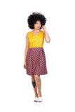 martie dress shwe cotton sustainable yellow brown