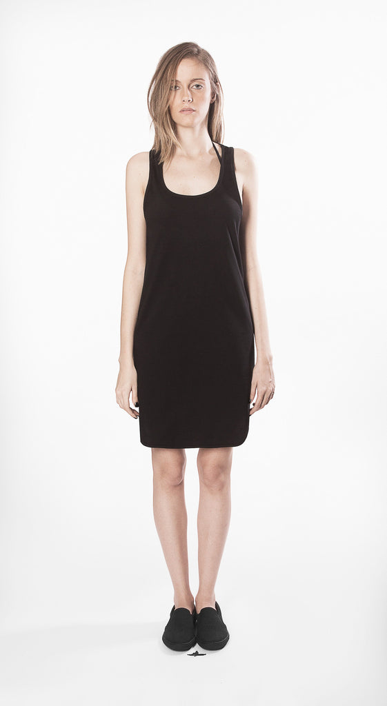 dress w4 black sleeveless short movin cotton sustainable