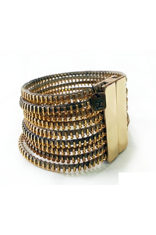 zip metal bracelet zoia sustainable