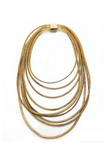 zip metal necklace golden zoia sustainable