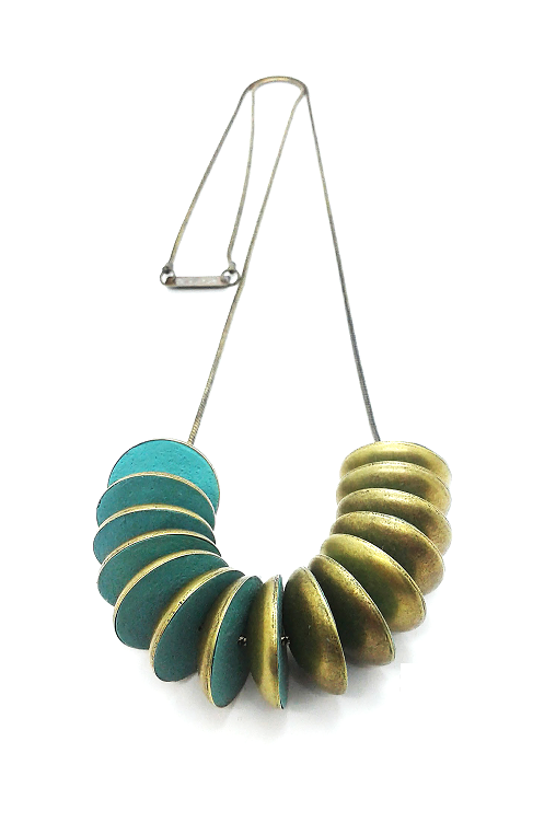conch metal necklace zoia sustainable