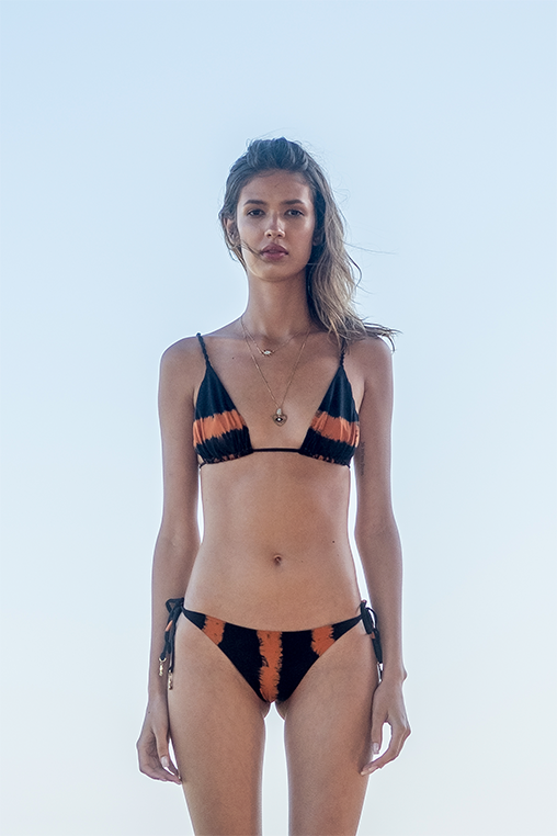 bikini tie dye Rita marju beachwear triangle top and bottom biodegradable material