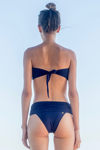 strapless carol bikini navy blue marju biodegradable fabric back