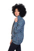 blue mollie jacket shwe sustainable pattenerd cotton side
