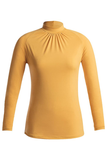 yellow deco envido shirt long sleeve sustainable biodegradable front