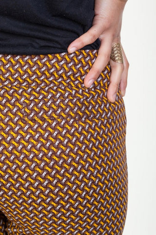 brown pants shwe cotton sustainable detail
