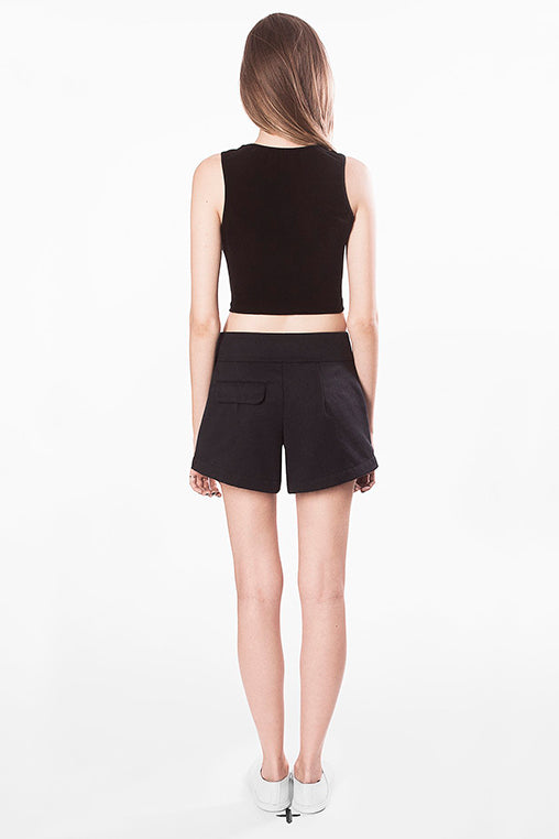 cropped Mary top black movin basic sustainable back