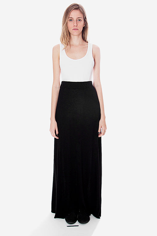 line skirt black movin long linen viscose bamboo sustainable