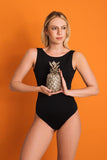 bodysuit black back cutout emi beachwear fauna sustainable biodegradable