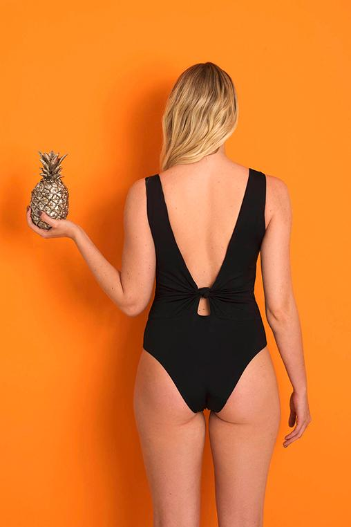 bodysuit black back cutout emi beachwear fauna sustainable biodegradable back