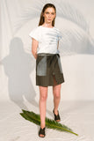 sonia denim skirt grey envido sustainable recycled cotton