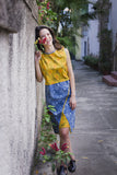 ve yellow dress shoe cotton sustainable on model