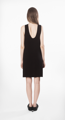 skept dress movin bamboo short black sustainable back