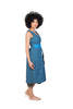 jabu blue dress shwe patterned cotton sustainable side
