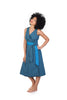jabu blue dress shwe patterned cotton sustainable