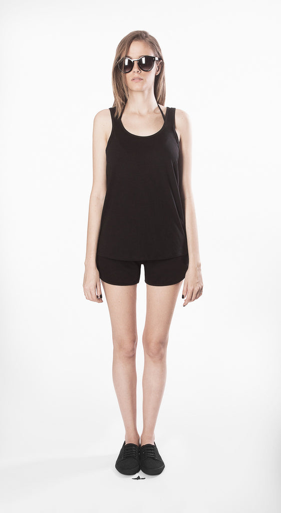 top w2 black movin cotton recycled sustainable