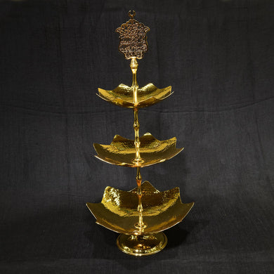 Leaf Model Tray Tree-Tiered Gold