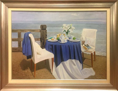 Oil Painting - Table on the beach